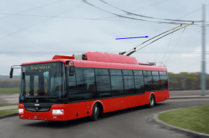 trolleybus vermelho