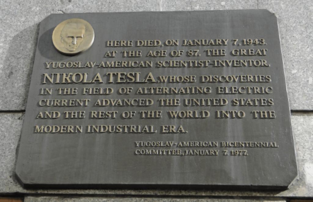 Nikola Tesla Placa
