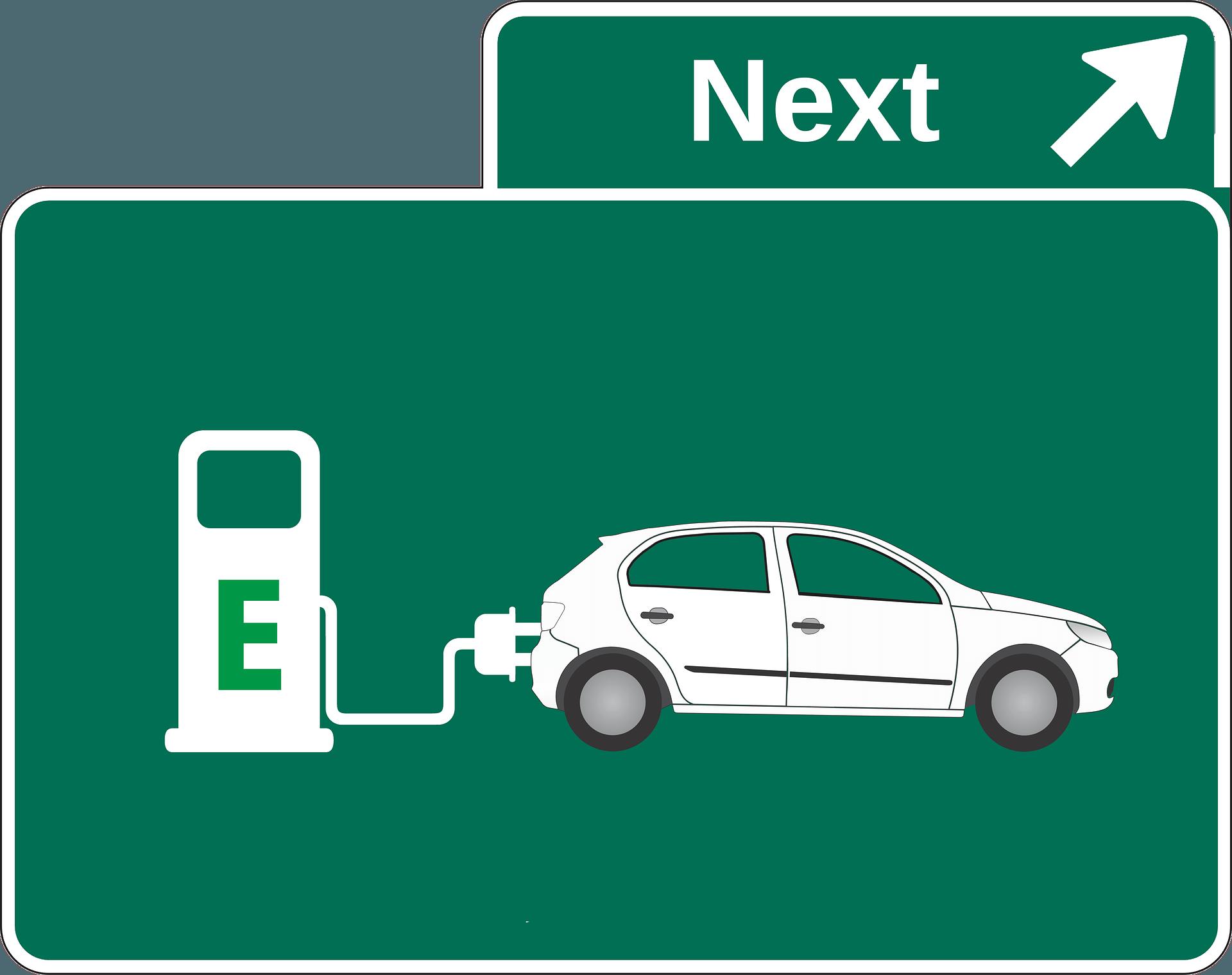 Placa carro elétrico