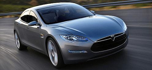 Tesla model s cinza