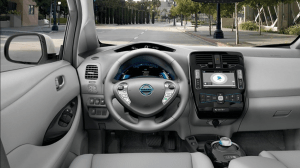 Nissan Leaf interior 2