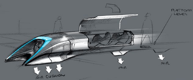 hyperloop capsula por dentro