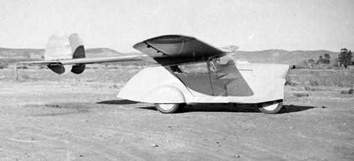 antigo carro voador