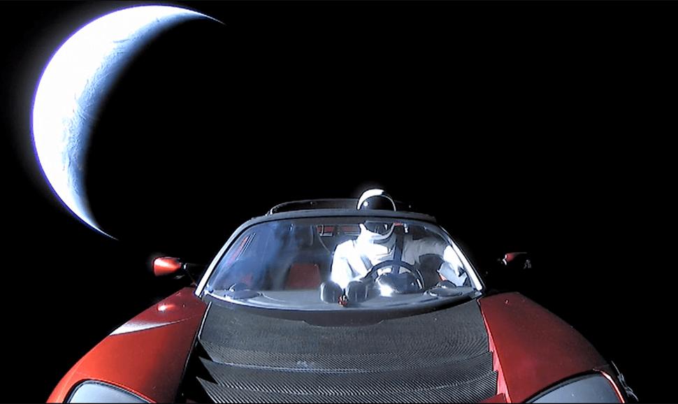 Ultima foto roadster no espaço
