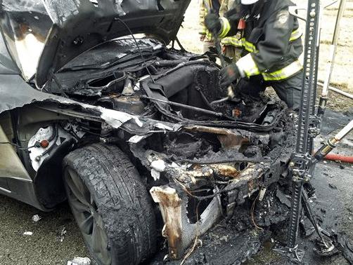 Model S acidente