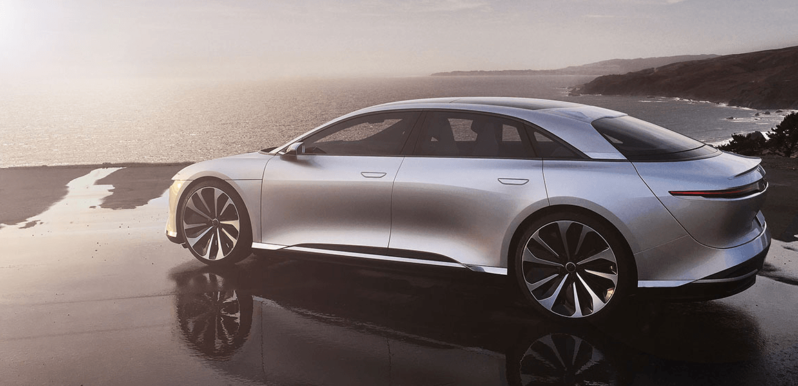 Lucid Air visto de fora