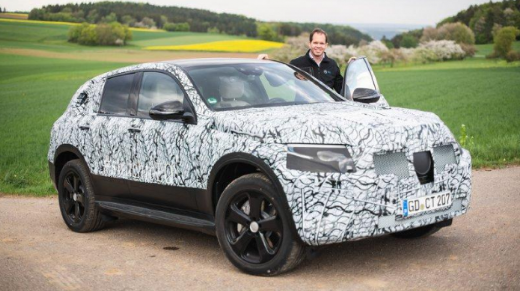 Mercedes Concept EQ camuflado