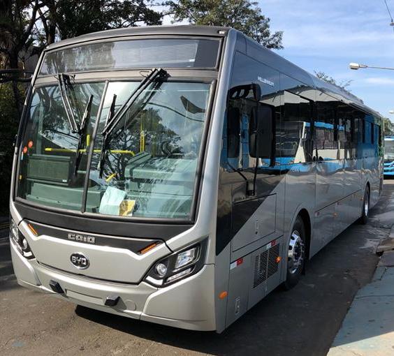 ônibus elétrico BYD Uberlândia 2