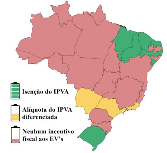 Montar sua frota de elétricos mapa IPVA
