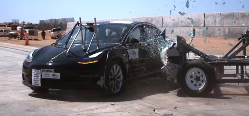 Model 3 Teste de colisão lateral