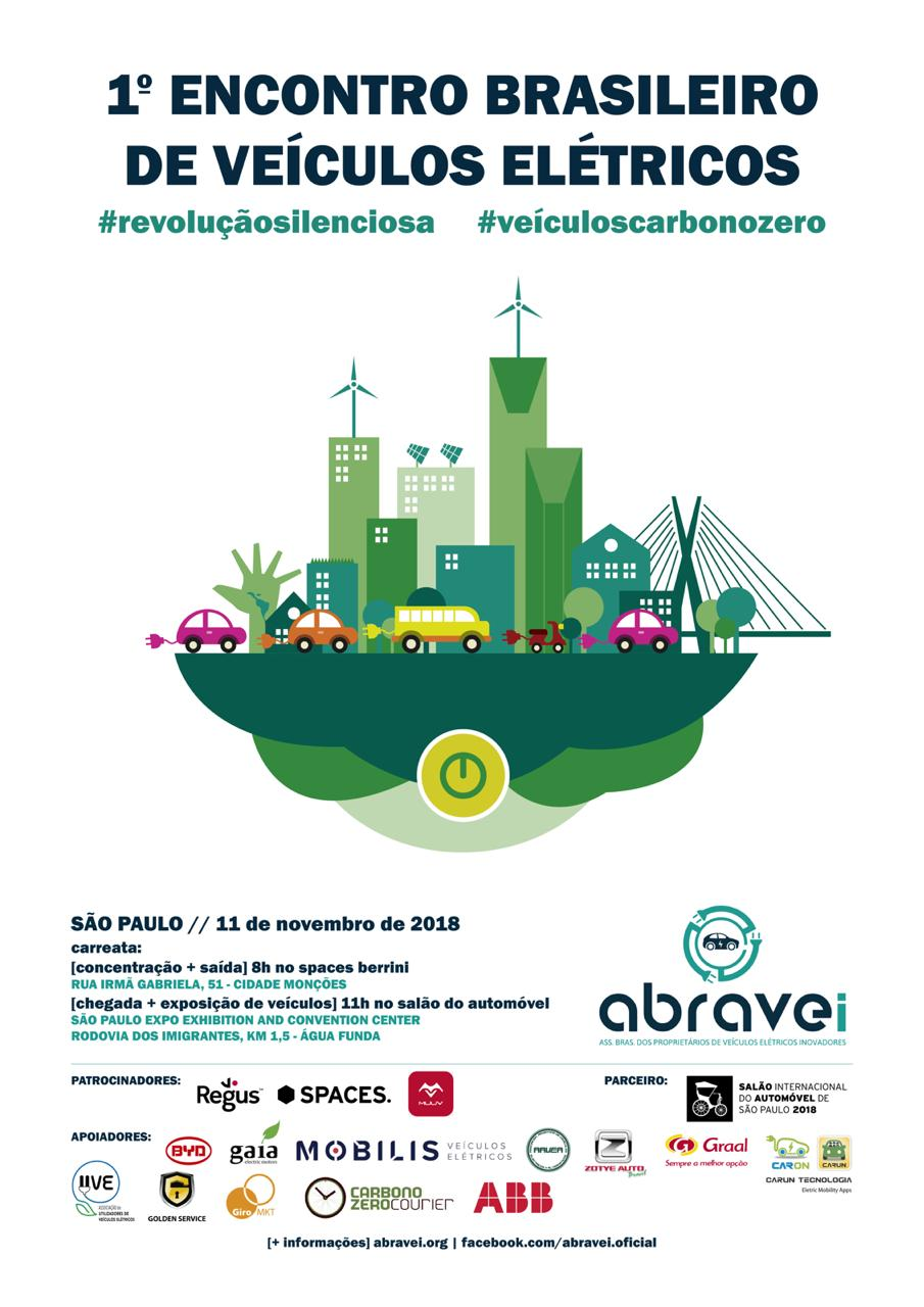 ABRAVEi promove primeiro encontro de veículos elétricos