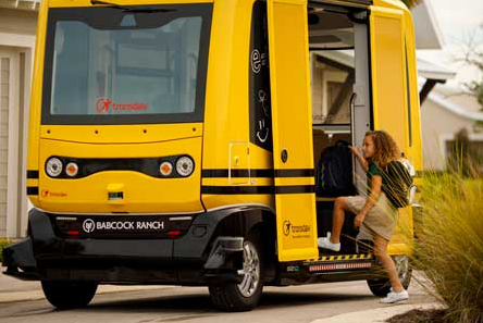 ônibus escolar autônomo como funciona