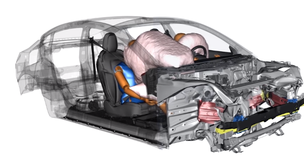 Model 3 tem airbags que se ajustam ao passageiro