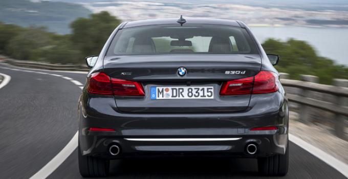 BMW Série 5 híbrido traseira