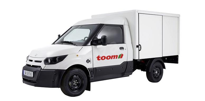 Van elétricas da Bosch são usadas em lojas de ferragens Toom, na Alemanha
