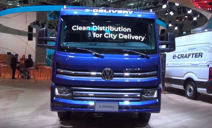 caminhão e-delivery usado pela Ambev e Volks