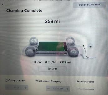 Tela de carregamento Model S