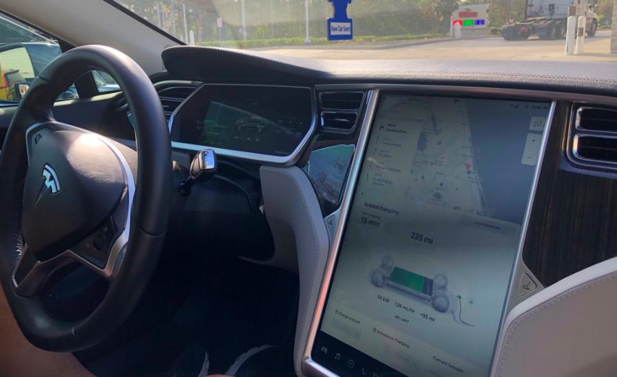 Tesla Model S display tea-drive Tesla
