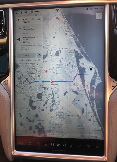 Tesla Model S Maps