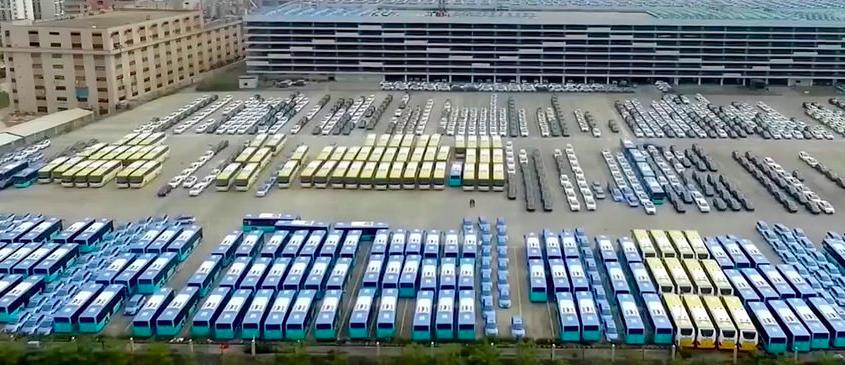 Frota 100% elétrica cidade chinesa Shenzhen