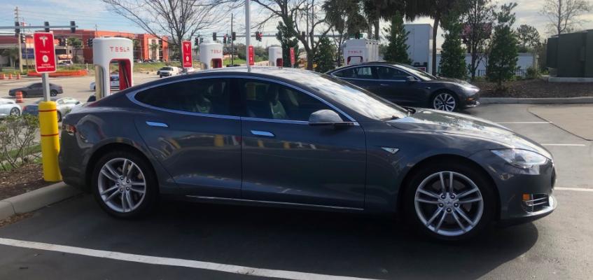 Tesla Model S test-drive