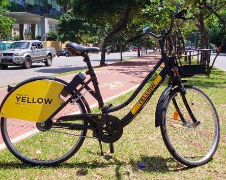 Bicicleta elétrica Yellow