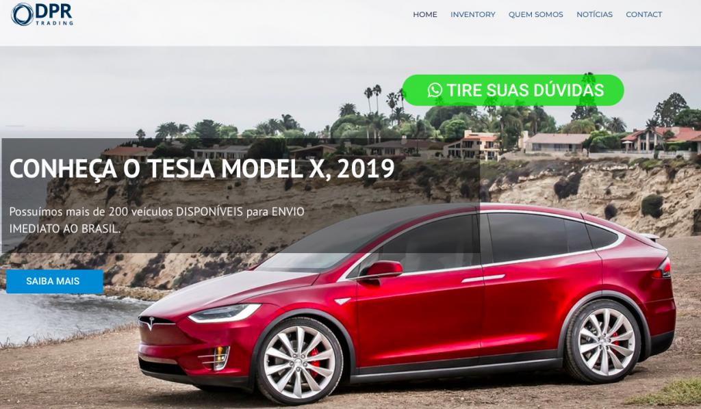 Site DPR Trading importar Tesla