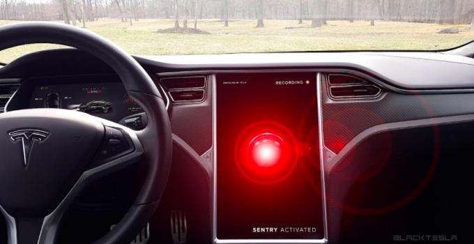 Tesla com Modo Sentinela ativado