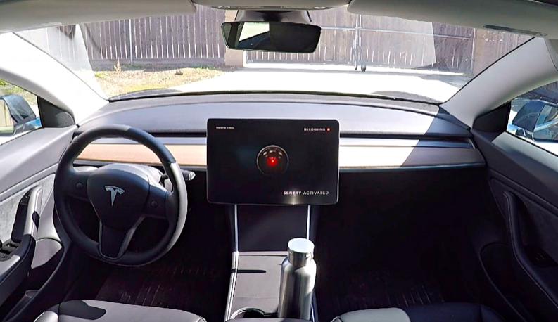 Tesla no Modo Sentinela
