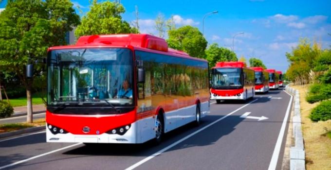 Frota de ônibus elétrico no Chile