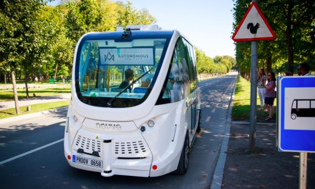 ônibus elétrico e autônomo