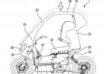 desenho da patente da scooter da BMW