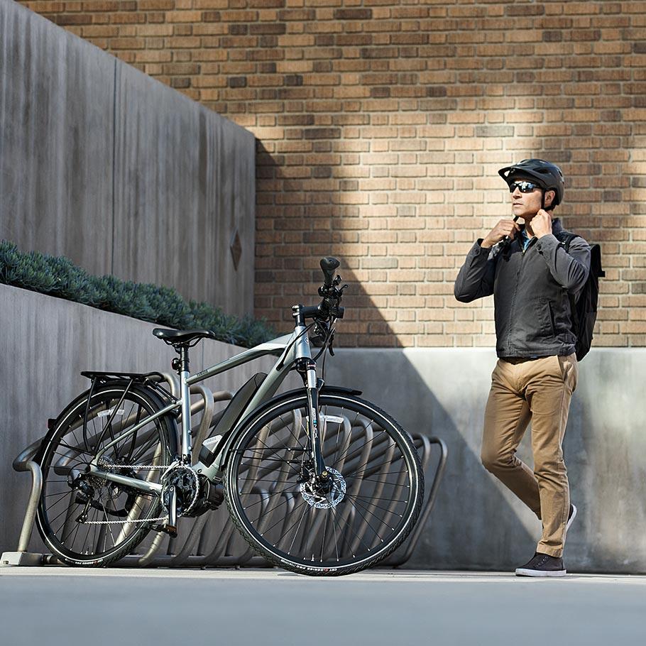Bicicleta elétrica Yamaha: Linha Fitness/Lifestyle crossconnect se preparando para ma nova aventura